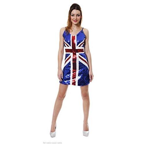 9146fd02 Generic Women's Sequin Casual Dress Small Uk 8-10 Blue