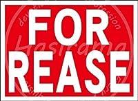 「FOR REASE」 看板メタルサインブリキプラーク頑丈レトロルック20 * 30 cm