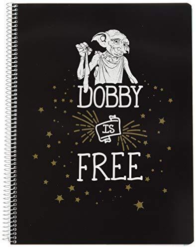 Cuaderno tapa polipropileno A4 5X5 microperforado Harry Potter Dobby