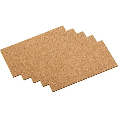 Maestro di sughero pad adesivo, 100X 200mm, 5pezzi, 646106