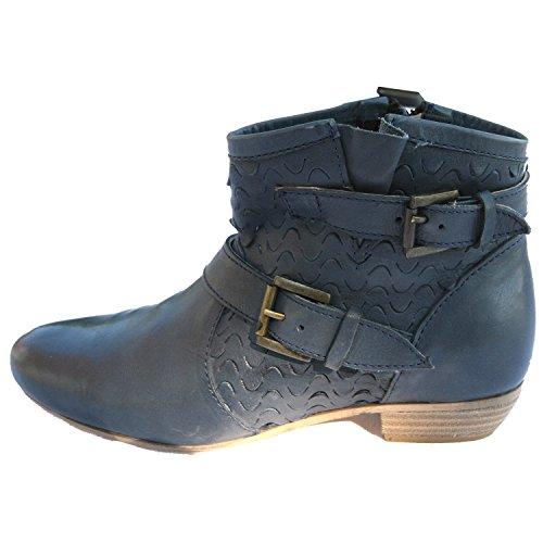 xyxyx, Damen Stiefelette Boots Booty, , jeansblau, 41 [17158]
