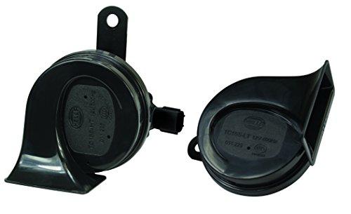HELLA 011225921 Black 12V BX Trumpet Horn Kit