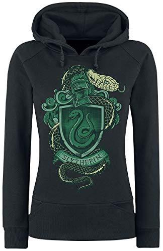 Harry Potter Slytherin Frauen Kapuzenpullover schwarz L