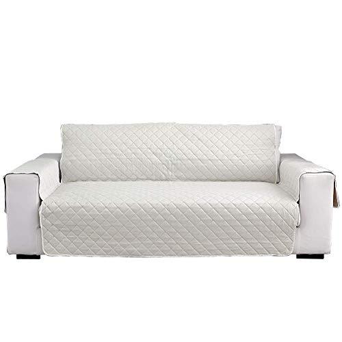 Leyue Sofá tapizado Cubierto, sofá de 1 Pieza Cubierta de la Costura para la Cubierta de sofá de Perro de Gato para niños, Toalla de Toalla cremosa Protectora Suave