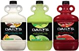 Daily's Cocktail Mix, Pina Colada / Margarita / Strawberry, 64 Oz Each (Pack of 3)