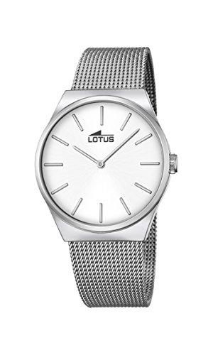 Lotus Unisex Analoger Quarz Uhr mit Edelstahl Armband 18285/1