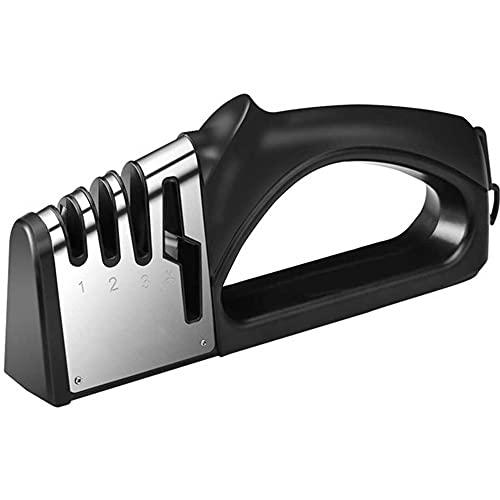 Afilador de cuchillos manual, 4 en 1, plegable, accesorio de cocina, 4...