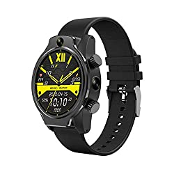 "4G WIFI smart watch - SUQIAOQIAO Rollme S08 1.69"" IPS Round Touch Screen 3+32G Smart Watch, 8MP+8MP Dual Camera 1360Mah+2200Mah Charging Compartment IP68 Waterproof Face ID - Weather, Phone, Alarm, GPS, Pedometer, Camera, Heart Rate Monitor"