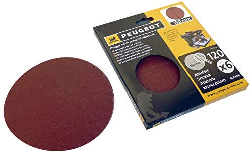 Juego de 6 discos abrasivos autoadhesivos Ø 150 mm grano A 120 parar Lijadora combinada ENERGYSand 100B
