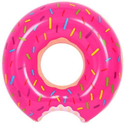 Piscina Donut Inflable de la Nadada del Anillo de Engrosamiento Una Variedad de Natación Anillo Flotante Fila Beach Pool Party Unisex del Verano, RosePowder-100cm (Color : Rosepowder, Size : 60cm)