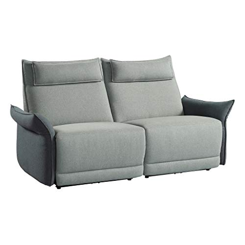 Homelegance Power Reclining Love Seat with Adjustable Headrest & Arm, 75' W, Gray