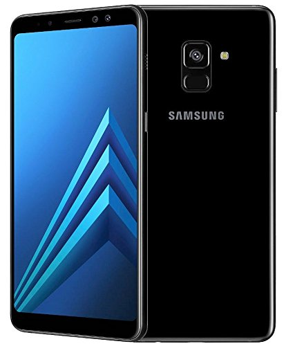 Samsung Galaxy A8 (2018) Factory Unlocked SM-A530F 32GB 4GB Ram, 5.6' Screen, 16MP Rear Camera + Dual Frontal Camera 16MP+8MP, IP68, 4G LTE International Version No Warranty (Black)