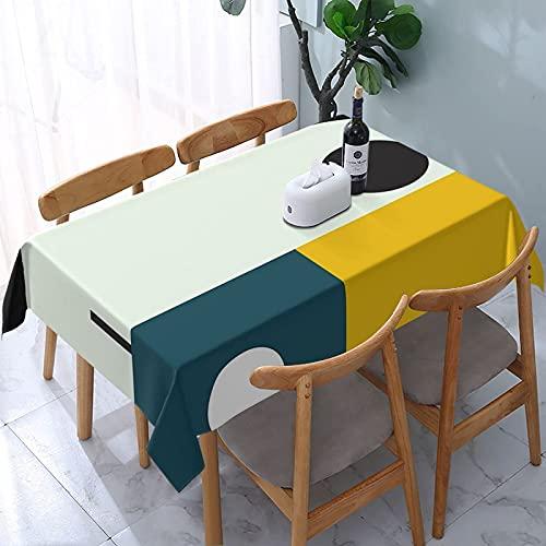 Tovaglia Bauhaus Età Riutilizzabile Tavoli rettangolari Copertura da pranzo Copertura da tavolo impermeabile in poliestere resistente all'olio 137X183CM
