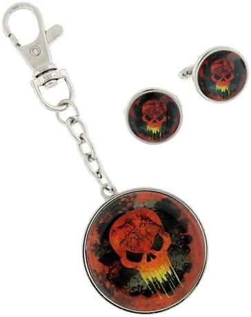 Ghost Rider Marvel Comics Cuff Links and Key Chain Gift Set