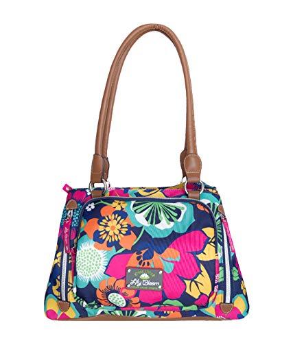 Lily Bloom Maggie Satchel Handbag, Floral Fiesta