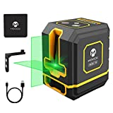 Laser Level, MOOCK 100ft Self Leveling Lazer Leveler Tool Green Line Laser Level Tool, 360°Magnetic Base, Rechargeable Lithium Battery, Horizontal, Vertical and Cross Line for Halloween Decorations