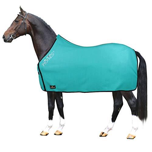 Horses, Coperta per Cavallo in Pile, Modello Basic, Morbida e Comoda, ideale per Trasporto e Dopo Lavoro,...