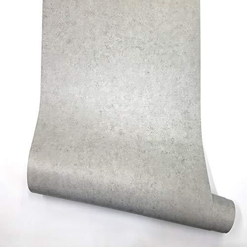 RoyalWallSkins Concrete Cement Look Wallpaper Gray Contact Paper 24' x 78.7', Self Adhesive Peel & Stick Wallpaper Living Room Furniture