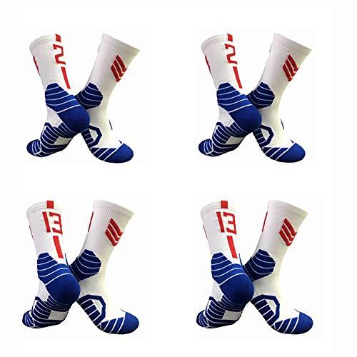 Los Angeles Clippers Unisex Team Spieler Anzahl Crew Socken 4 Pairs- Children