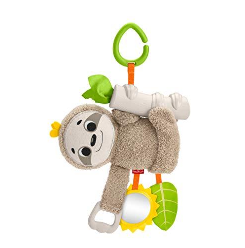 Fisher-Price GHL39 - Kleines Knister Spiel Faultier, Sensorik und Motorik Babyspielzeug ab der Geburt