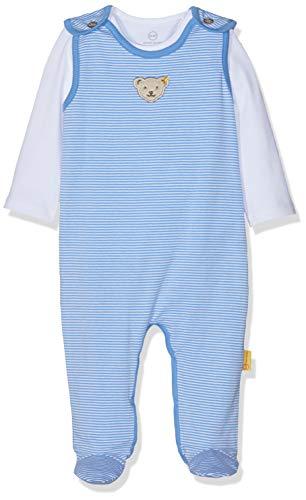 Steiff Baby-Jungen Set T-Shirt Strampler, Blau (Marina 6026), (Herstellergröße: 62)