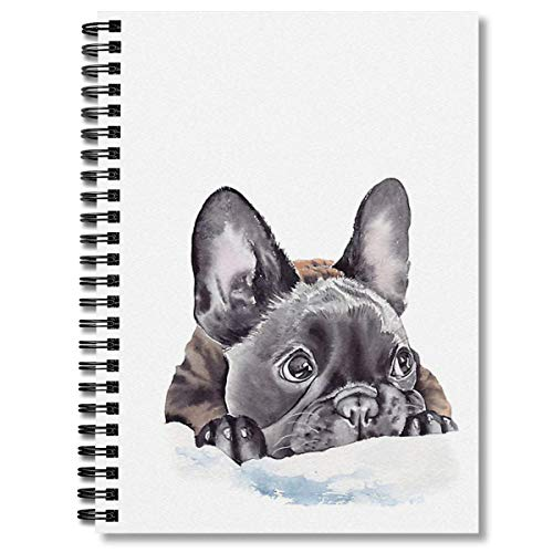 Spiral Notebook French Bulldog Composition Notebooks Journal With Premium Thick Day Planner Paper