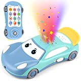 XQW Baby Cell Phone Toy for 1 Year Boy Early Education Learning Pretend Phone Toy Star Projector Musical Car Toys Gifts for Toddlers 1 2 3 Year Old Boys Girls