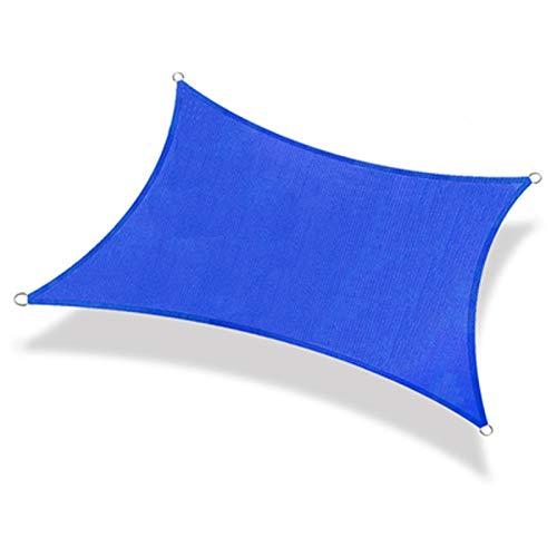 CYYAN Toldo Vela de Sombra Rectangular, Transpirable, Resistente al desgarro, 95% de índice de sombreado, toldo de Vela de jardín, HDPE para toldo de jardín, Patio