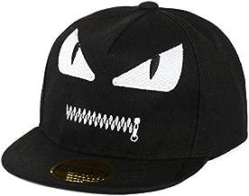قبعة بيسبول برسومات كارتونية لطيفة للأطفال مطبوع عليها Demon Hip Hop - أسود
