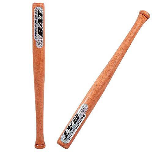 Bate de béisbol de madera, bate de béisbol Bate de softbol con empuñadura de goma y diseño aerodinámico para entrenamiento de béisbol y se puede usar en casa o en vehículos de 24 pulgadas