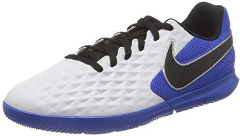 Nike Jr. Legend 8 Club IC Football Shoe, White/Black-Hyper Royal-Metallic Silver, 35 EU