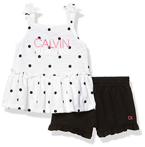 Calvin Klein - Conjunto de 2 pantalones cortos para niña