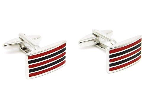 Gemelolandia beour & stripes red black de forme rectangulaire Noir et Rouge