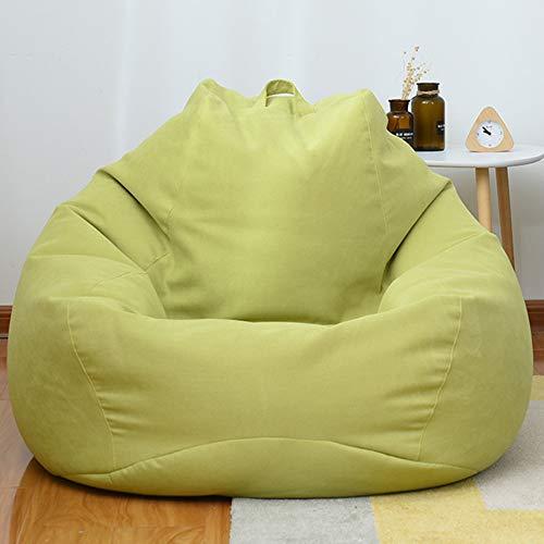 RIYIFER Puf Gigante Funda De Puff, Bean Bag Bazaar Paño Suave, Transpirable Y Resistente Al Desgaste Cubierta De Sofá Lounge Gaming Chai,Verde,100 * 120CM
