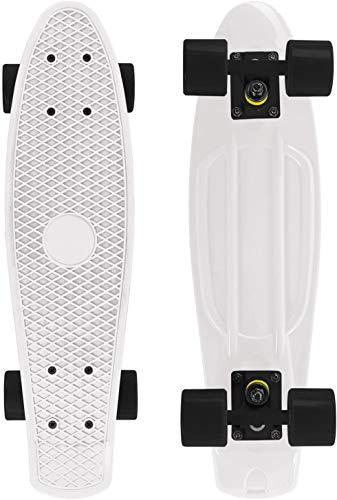 SKILEC Skate Completo Monopatín Principiantes con Ruedas PU - Skateboard Niño 22 Pulgadas, 57 cm Monopatin Niños Patinete Rodamientos con Soporte Penny Board Adolescente Joven Adulto