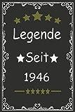 Legende seit 1946: geburtstag geschenkideen frauen Männer zum, Geboren März 1946, wunderschöne Notizbuch-Tagebuch, Journal tagebuch 115 Pages