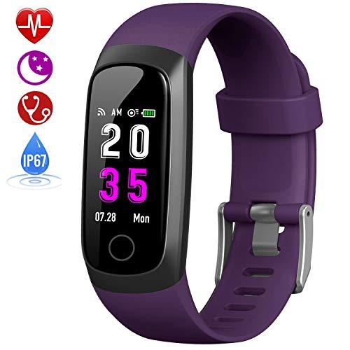 HETP Montre Connectée Tension Arterielle, Bracelet Connecté Podomètre Femme Homme étanche IP67 Montre Cardiofréquencemètre GPS Sport Smartwatch...