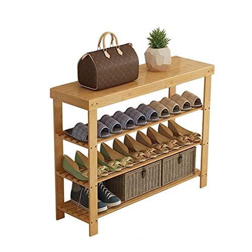 XYZMDJ schoenenrek met 3 massief houten topjes, kast, opbergruimte, slaap voor het huis, slaapkamer, woonkamer, schoenenrek