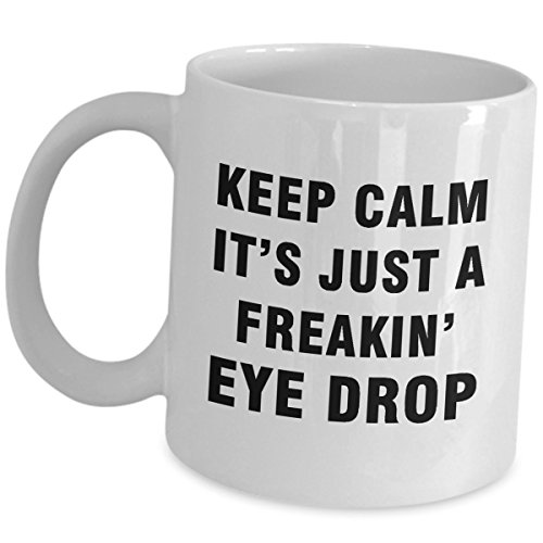 Ophthalmologist Funny Cute Gag Gifts for Men Women Ophthalmology Mug Coffee Tea Cup - Keep Calm - Optician Optometrist Optic Eye Doctor Specialist Optometry Accessories Appreciation Ideas