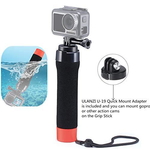 ULANZI OSMO Action Drijvend Handvat Grip Compatibel met DJI Osmo Actie/Gopro Hero 7 6 5 met Quick Release Base Adapter voor Action Camera Duiken Surfen Onderwater Fotografie