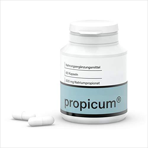 Propicum Kapseln | Nahrungsergänzungsmittel mit Propionsäure | 500 mg Natriumpropionat | 60 Stück