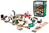 Brio World 33766 Railway World Deluxe Set | Wooden Toy Train Set For Kids Age 3 & Up