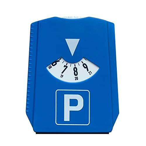KKmoon Disco di Parcheggio con Raschietto per Ghiaccio, M & H-24 Europeo Parchimetri a Disco di Parcheggio con Raschiaghiaccio, Plastica, Blu