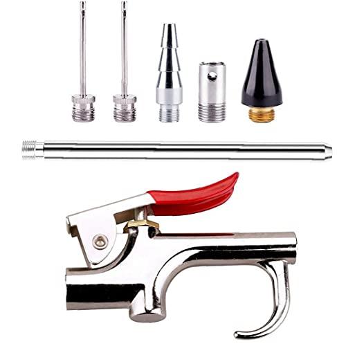 7 Piezas Boquilla De Aire Pistola De Aire Comprimido Kit Kit De Herramientas Neumáticas Con 6 Boquillas Intercambiables Neumático Del Compresor De Aire Accesorios Para Herramientas