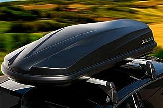 Moove - Baúl portaequipajes de techo para coche, 470 litros, negro mate, universal, 75 kg de cargay, aerodinámico, certificado