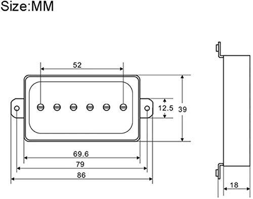 XHUENG Durable Pickup voor elektrische gitaar P90 Fit voor Humbucker Single Size Coil Coil Pickup Neck Bridge Gitaaronderdelen en Accessoires (Kleur: Neck Pickup) (Color : Neck and Bridge)