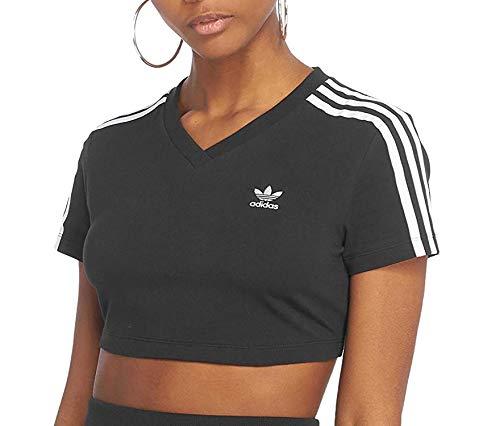 adidas Cropped tee Camiseta, Mujer, Negro (Negro), 36