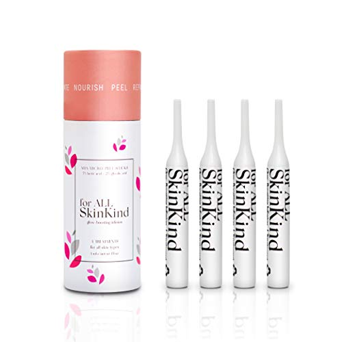 For All SkinKind — Alpha Hydroxy Acid Chemical Peel — 2% Glycolic Acid + 5% Lactic Acid — Skin Resurfacing & Tightening Formula — Chemical Peel at Home to Add to Your Skincare Routine — 4 Treatments