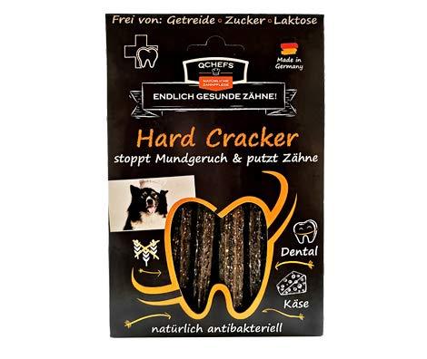 QCHEFS Hard Cracker| chien combattants de plaque | pas de gluten | dentaire allergiques | contre le tartre | fromage blanc
