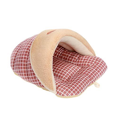 Cosanter Sac De Couchage pour Animaux De Compagnie De Chenil Pantoufles Style Sac De Couchage Rose Taille: 52 x 40 x 32cm